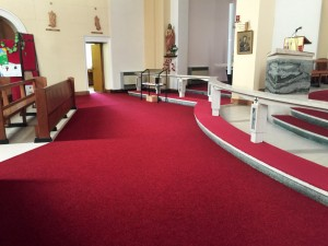 New carpet at All Saints