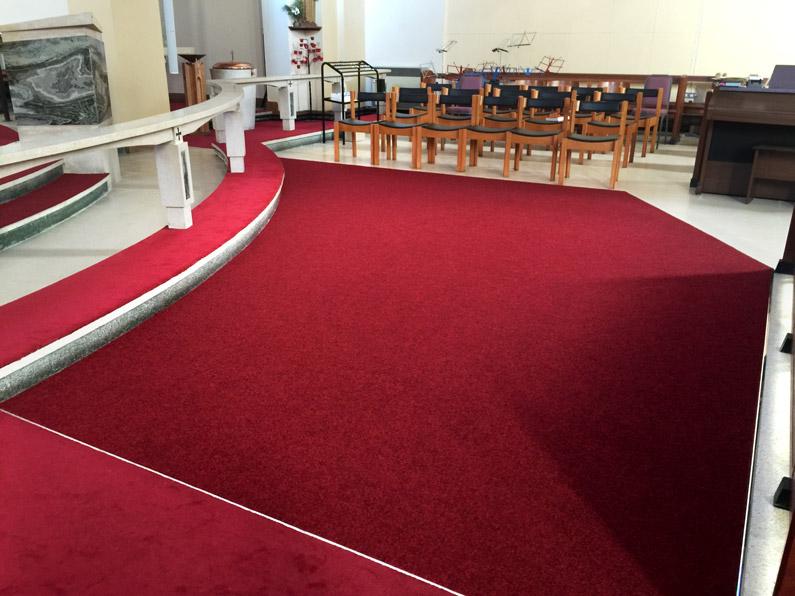 New carpet at All Saints