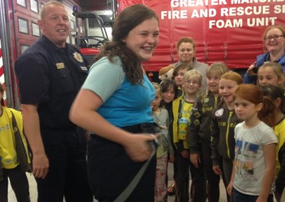 Brownies at the Fire Station
