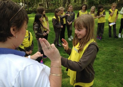 Brownies Receiving Badges