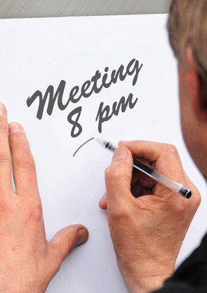 Meeting at 8pm