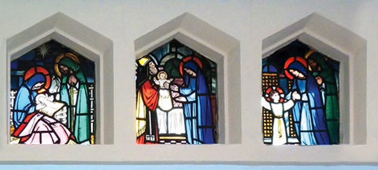Our Lady of Lourdes windows