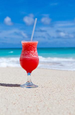 Drinks on the beach!