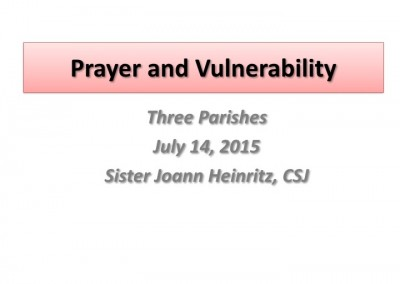 Prayer and Vulnerability - Slide 1