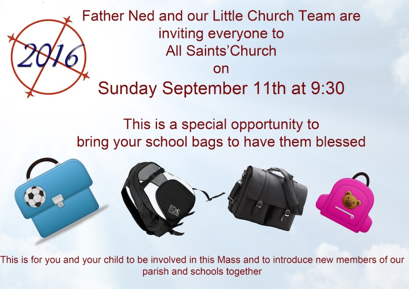 Blessing of the School Bags 2016