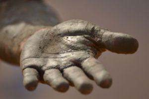 Pleading hand