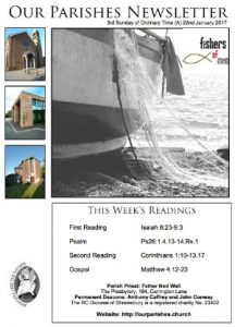 Our Parishes Newsletter cover 22/01/2017