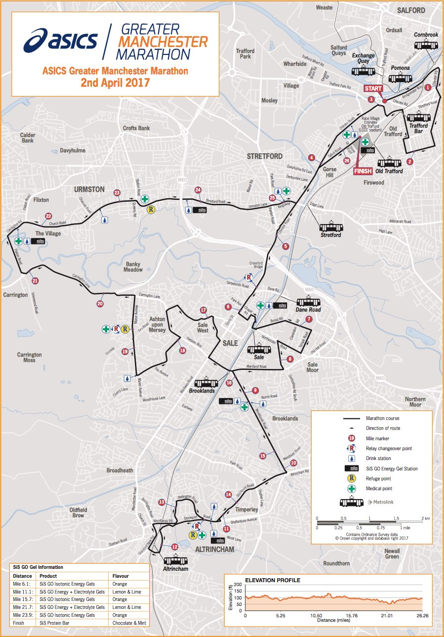 Manchester Marathon Route 2017