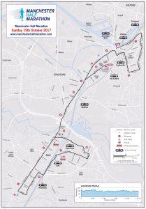 Manchester Half Marathon Route